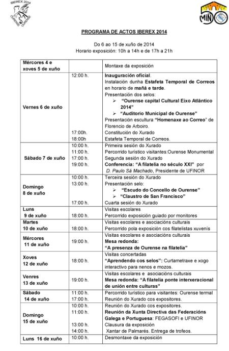PROGRAMA DE ACTOS IBEREX 2014 con logos