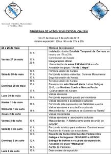 PROGRAMA ACTOS XXVIII EXFIGALICIA 2016