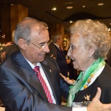 Pilar felicitada por Presidente de FESOFI