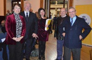 Carolina Gómez-Zarzuela, Ángel Nieto, Raquel Miranda, José Barros y Valentín Suárez