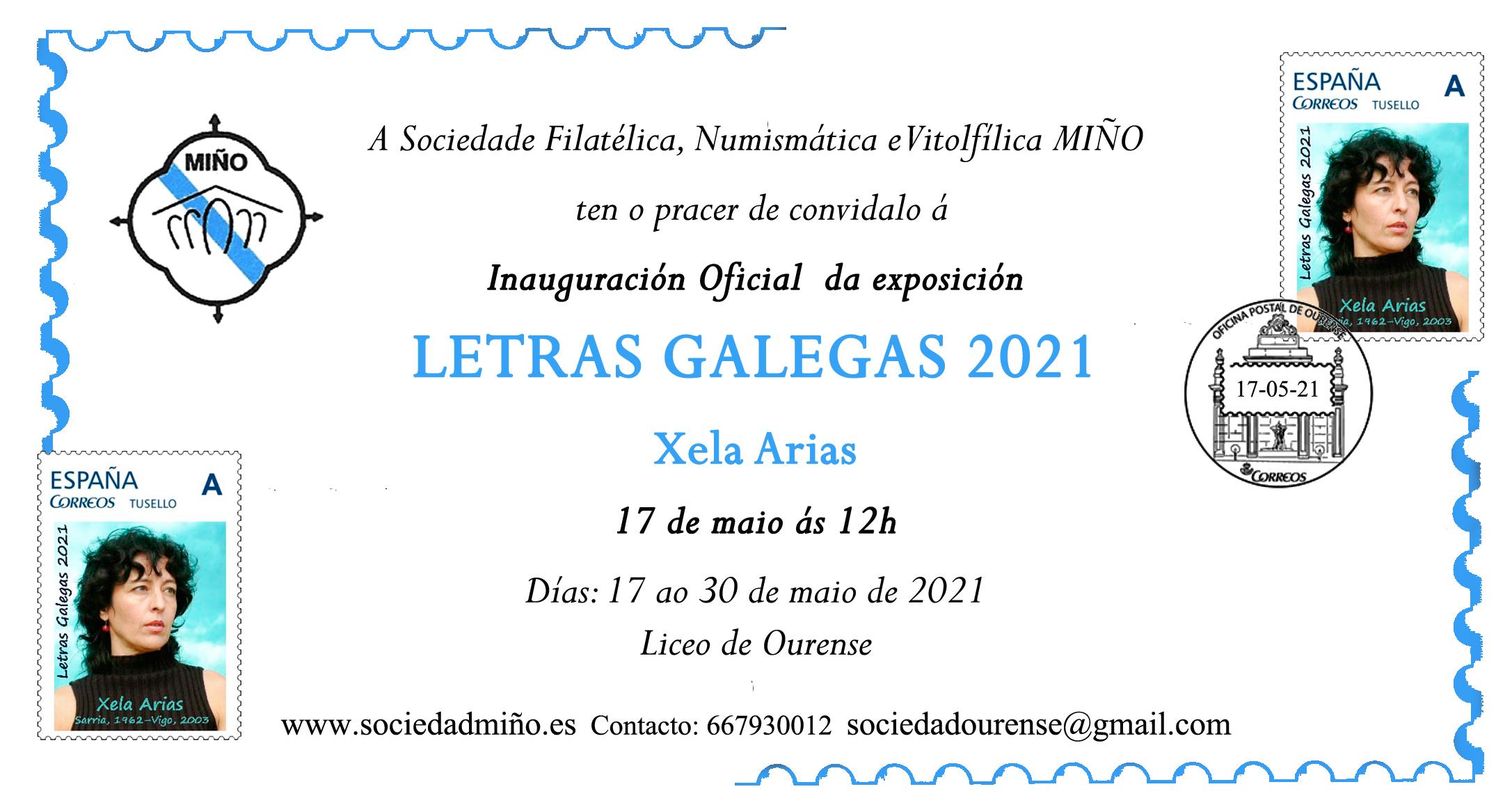 Invitación Exposicion Letras Galegas 2021